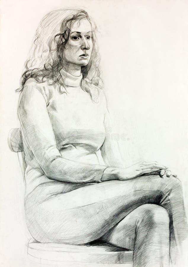 Download Frauenportrait stock abbildung. Illustration von dame - 27729536