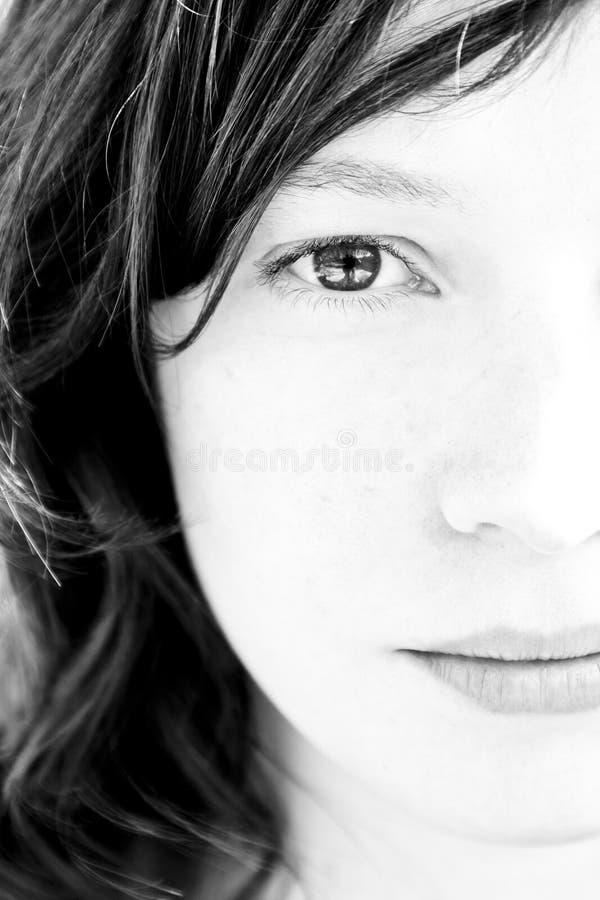 Frauenportrait stockfotos