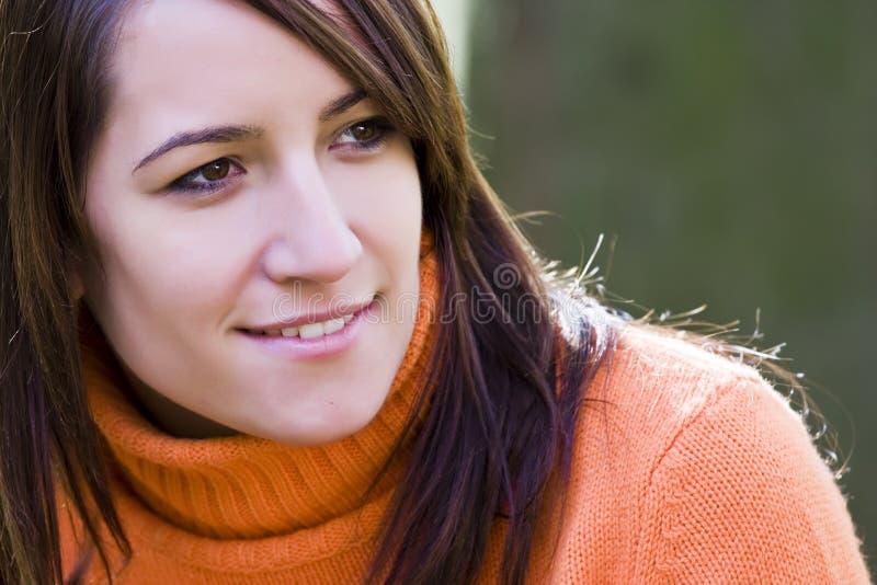 Frauenportrait lizenzfreie stockfotos