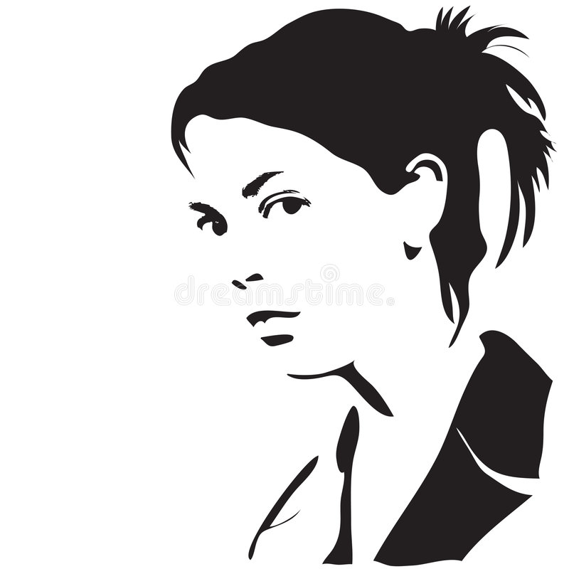 Frauenschattenbild stock abbildung