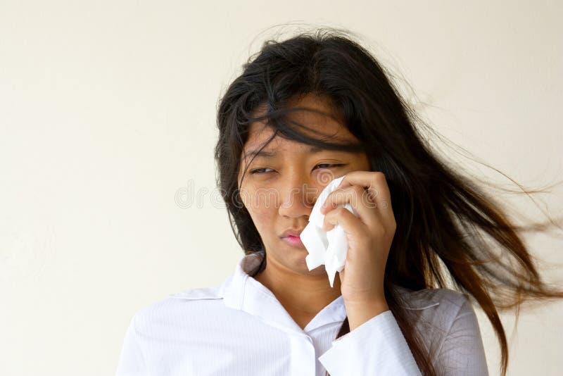 Frauenschreien stockbild