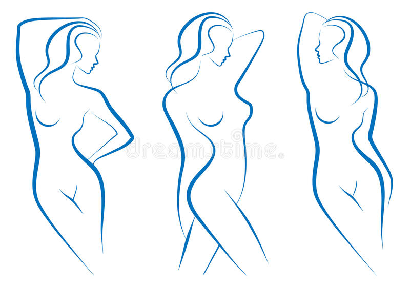 Frauenskizze,   vektor abbildung
