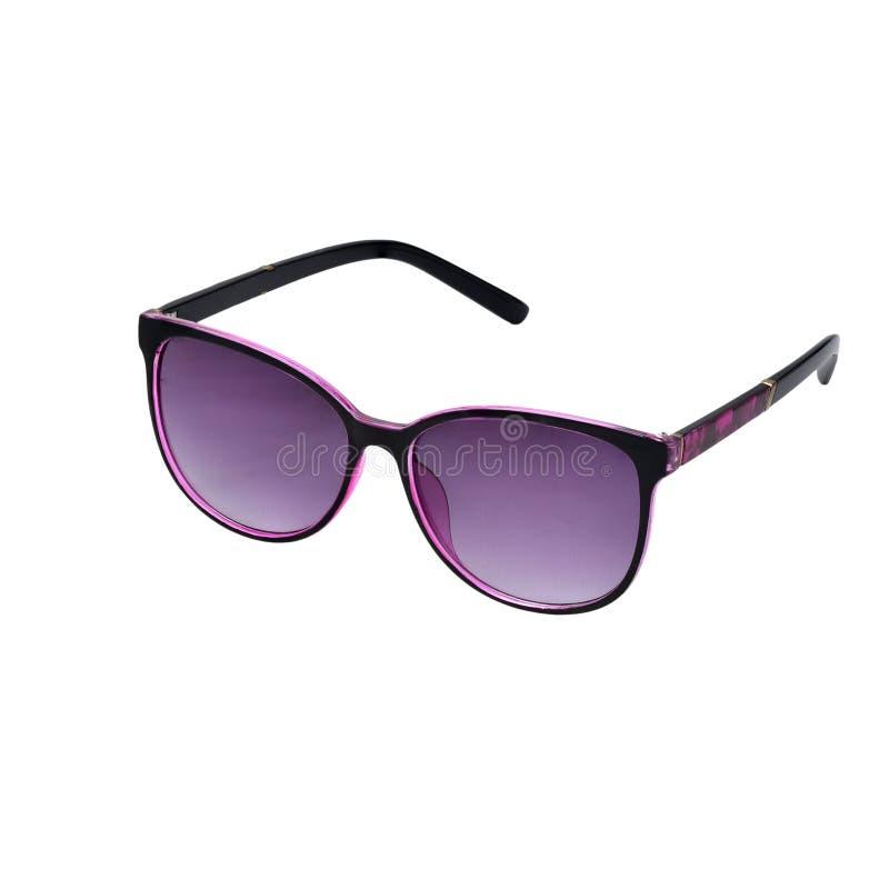 Frauensonnenbrillen auf einem weißen lokalisierten Hintergrund lizenzfreies stockbild