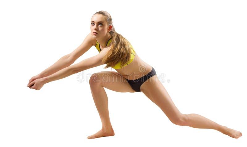 Download Frauenstrand-Volleyballspieler Ohne Ballversion Stockfoto - Bild von spielen, aktivität: 96930912