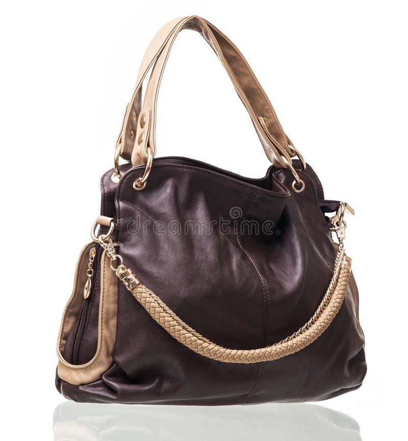 Frauentasche über Weiß lizenzfreies stockbild