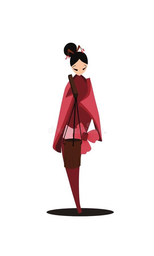 Frauenwelt - chinesische Arbeiterin lizenzfreie abbildung