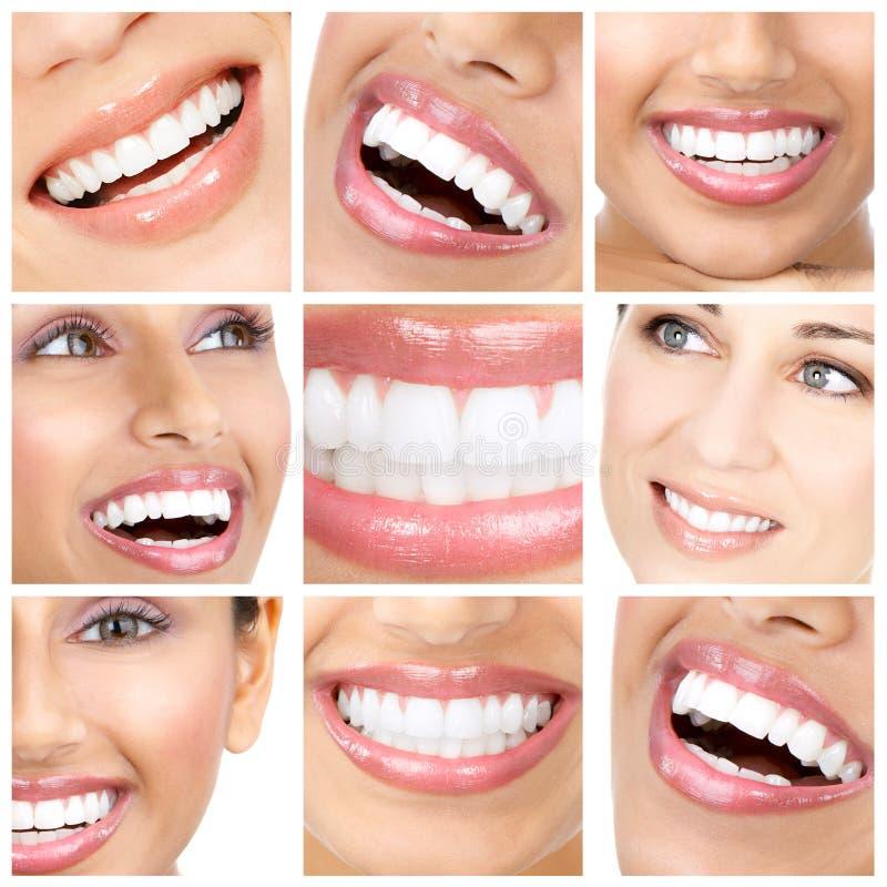 Frauenzähne stockfoto