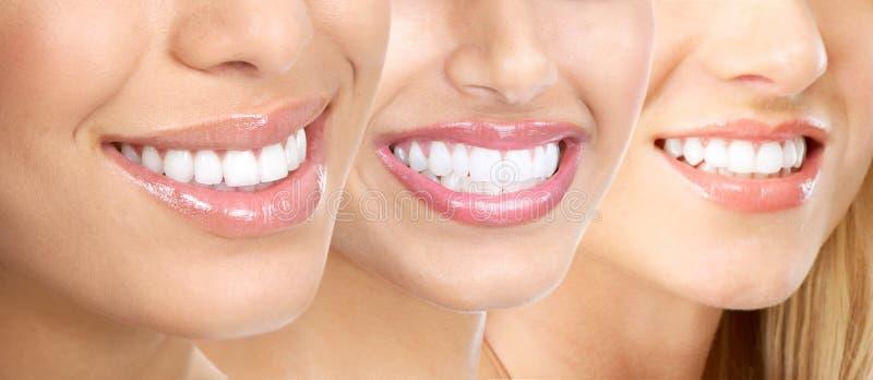 Frauenzähne lizenzfreie stockfotos