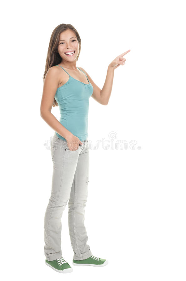 Frauenzeigen stockbilder