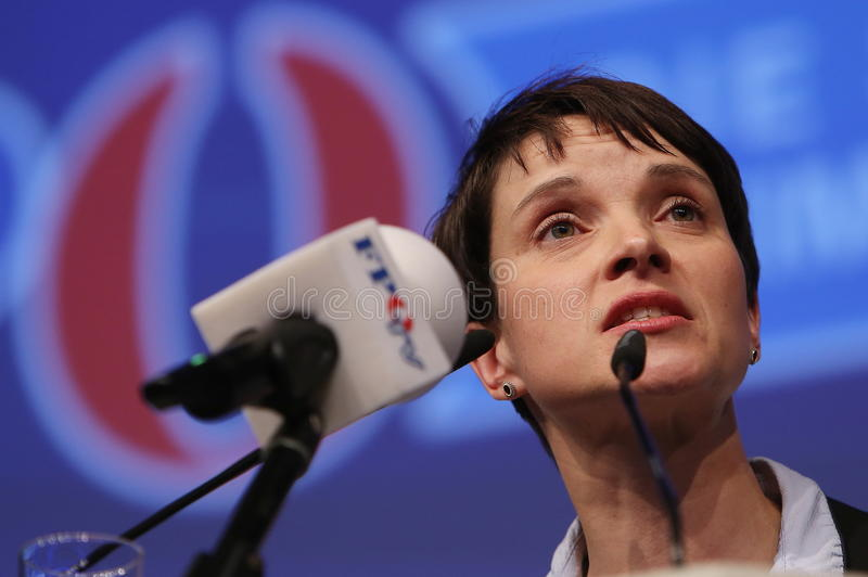 Frauke Petry, of the German Rightwing Party AFD royalty free stock image