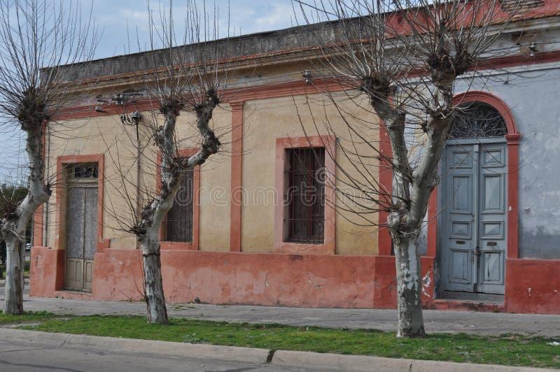 Fray Bentos. Facade in Fray Bentos, Uruguay, Rio Negro royalty free stock images