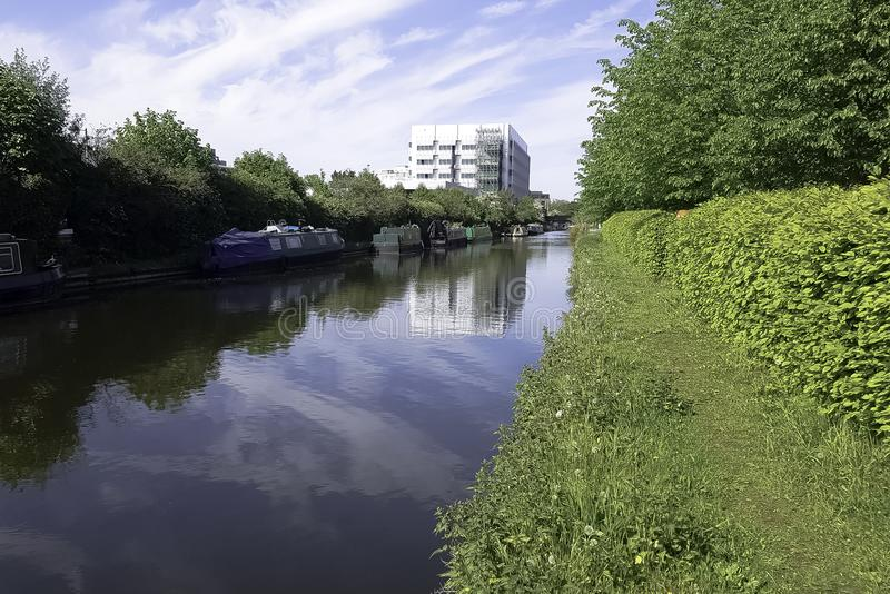 Fray`s River - Uxbridge, Middlesex, United Kingdom. Fray`s River in Uxbridge, Middlesex, United Kingdom stock image