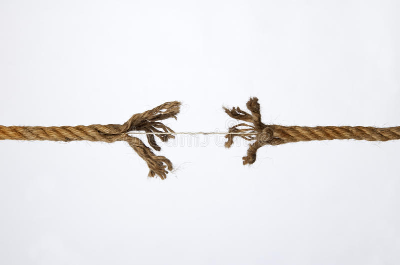 Download Frayed rope stock photo. Image of rope, concept, danger - 23274654