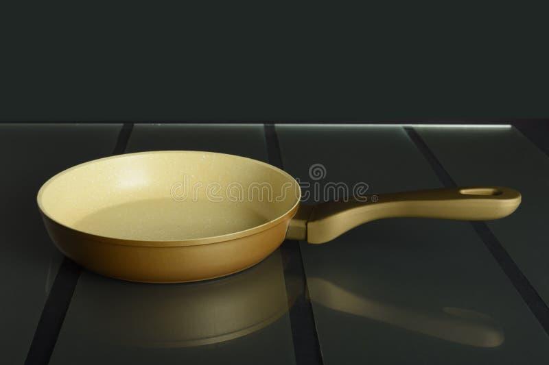 Fraying pan stock image