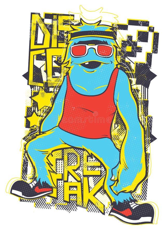 Freak della discoteca illustrazione di stock
