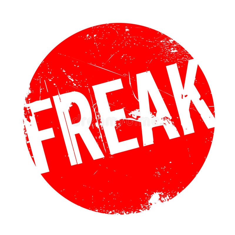 Freak rubber stamp. Grunge design with dust scratches. Effects can be easily removed for a clean, crisp look. Color is easily changed royalty free illustration