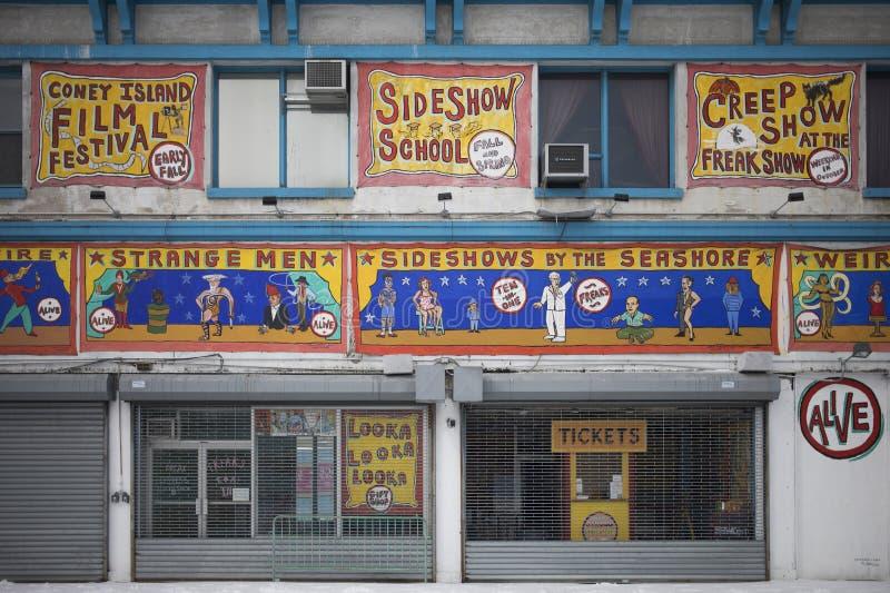 Freak Show in Coney Island royalty free stock photo