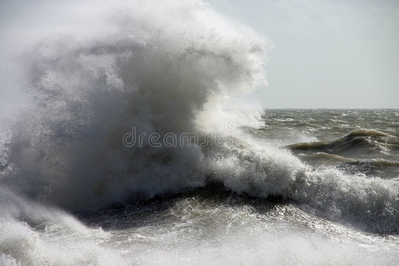 Freak Wave stock photo