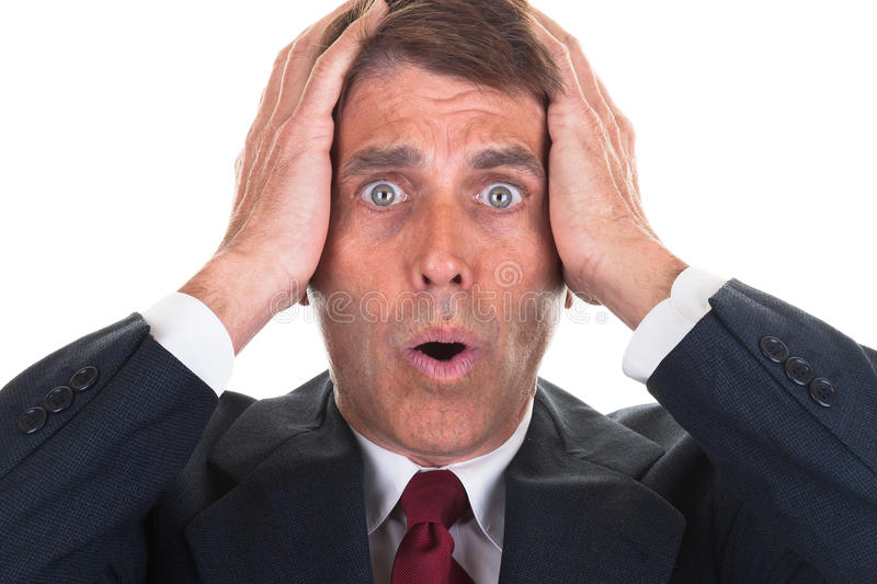 Download Freaked out Businessman stock photo. Image of frustrated - 28097176