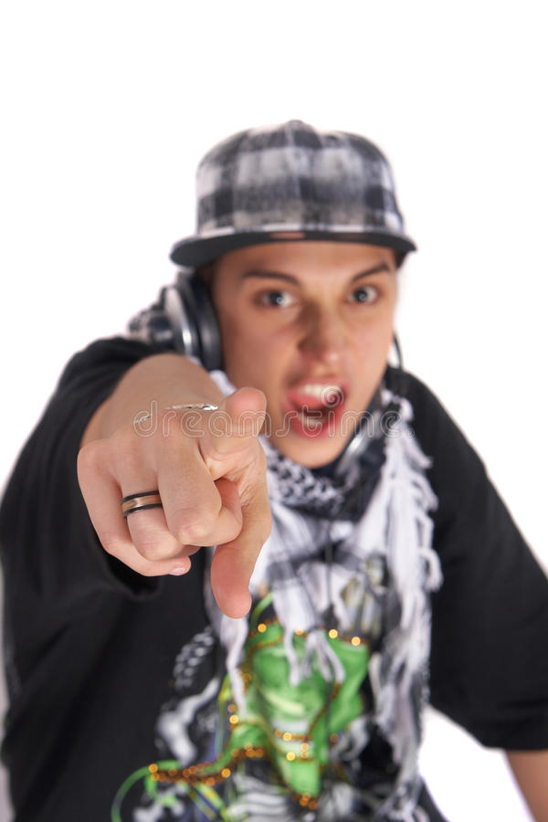 Freaky DJ royalty free stock images