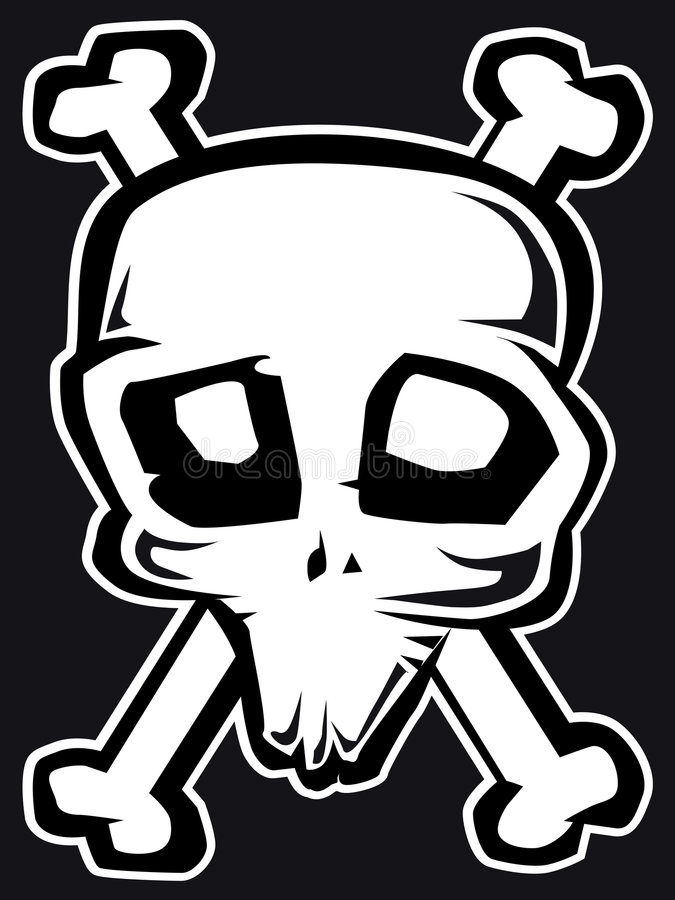 Freaky skull b&w royalty free stock image