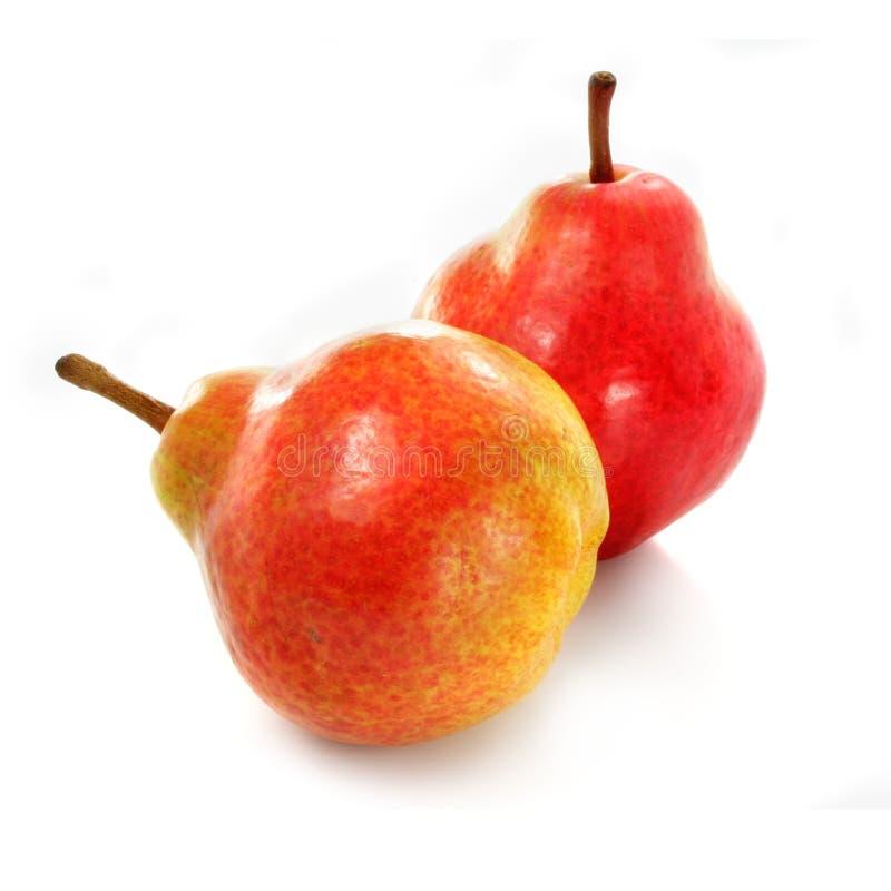 Freash ripe pear fruits isolated