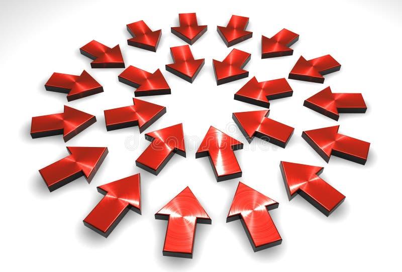 Download Frecce illustrazione di stock. Illustrazione di centrale - 219667