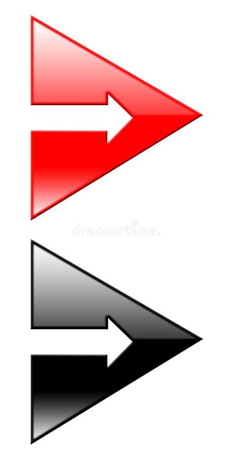 Frecce 3d illustrazione vettoriale