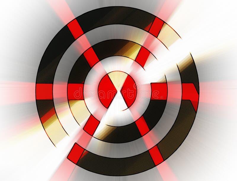 Frecce astratte in un obiettivo illustrazione vettoriale