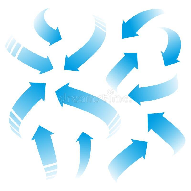 Frecce blu royalty illustrazione gratis