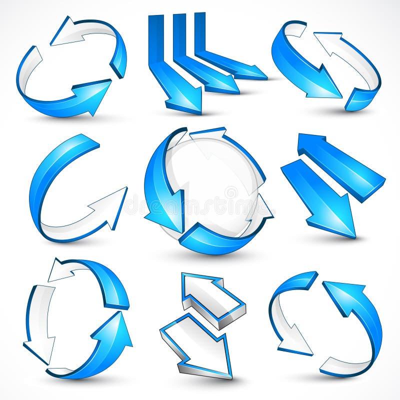 Frecce blu. Illustrazione di vettore illustrazione di stock