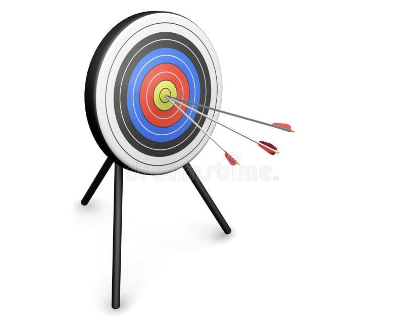 Frecce Che Colpiscono Obiettivo Fotografia Stock