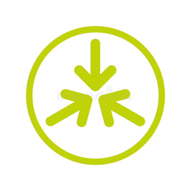Frecce che indicano al centro illustrazione di stock