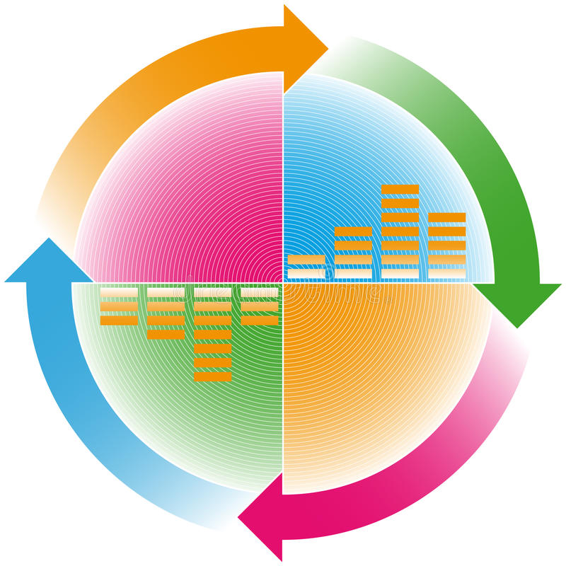 Frecce cicliche illustrazione di stock