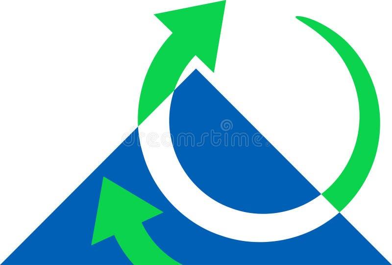 Frecce con il triangolo illustrazione di stock