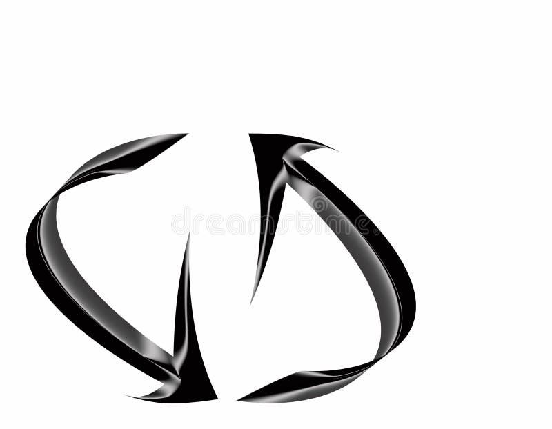 Frecce d'acciaio immagini stock