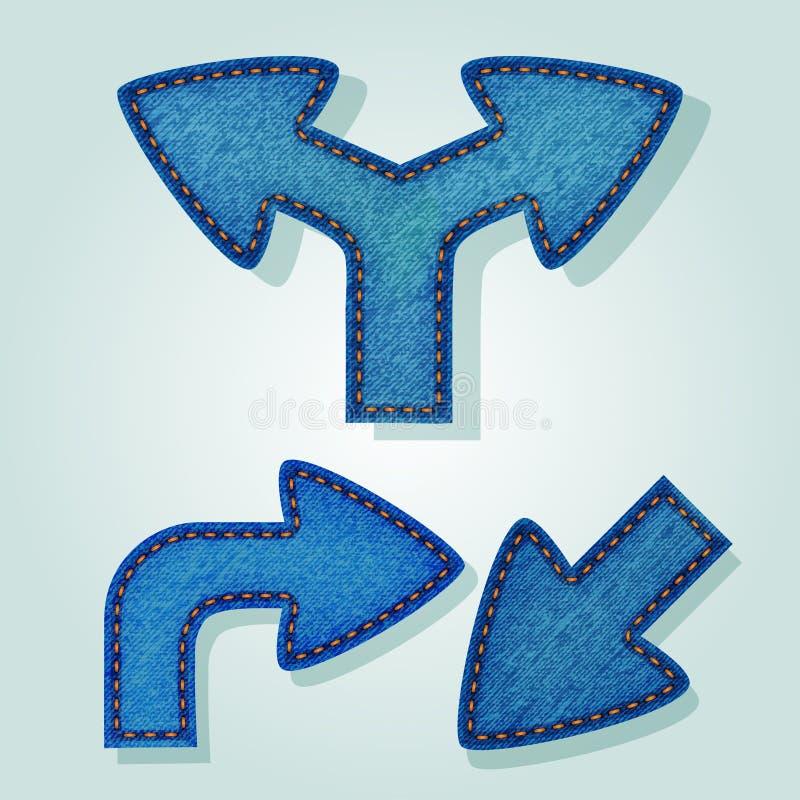Frecce dei jeans illustrazione vettoriale
