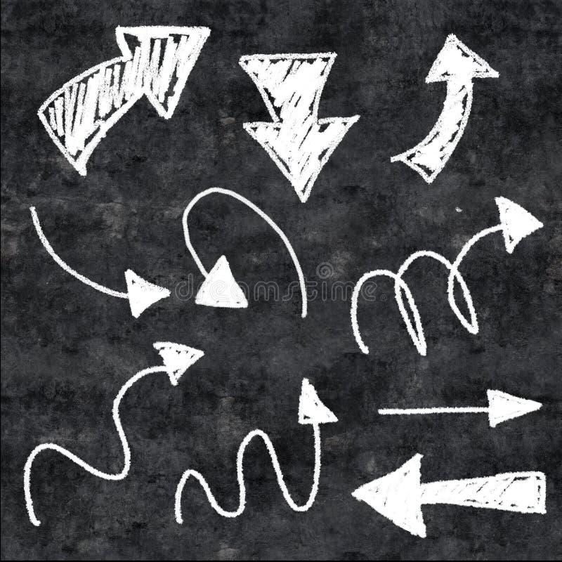 frecce del gesso 3d illustrazione di stock