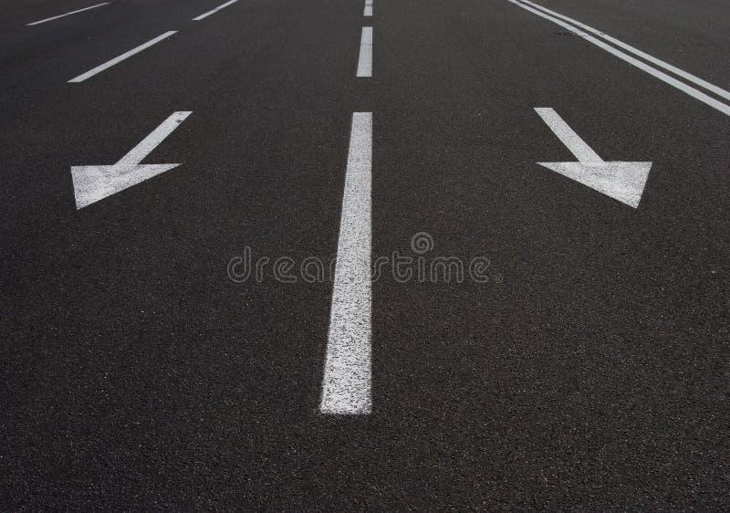 Frecce della strada immagini stock