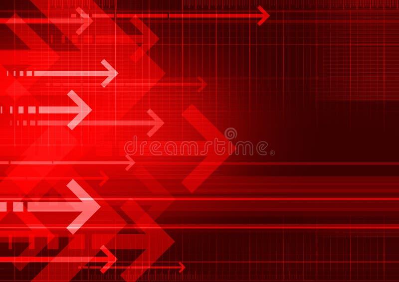 Frecce di Bckgrnd rosse illustrazione di stock