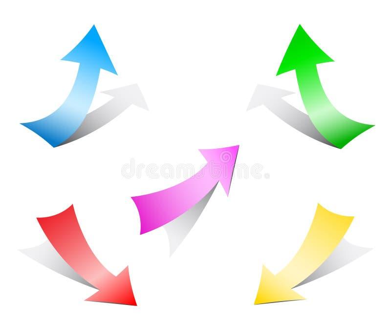 Frecce di carta illustrazione di stock