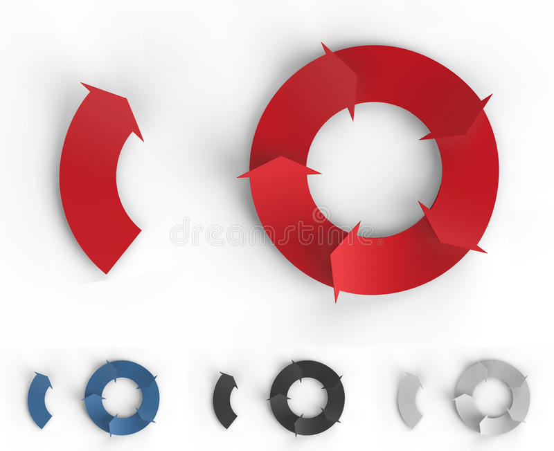 Frecce di Infographic fotografie stock libere da diritti