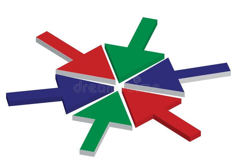 Frecce di RGB royalty illustrazione gratis