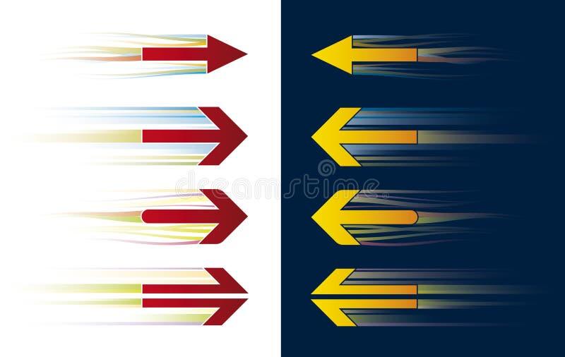 Frecce di velocità (vettore) illustrazione di stock