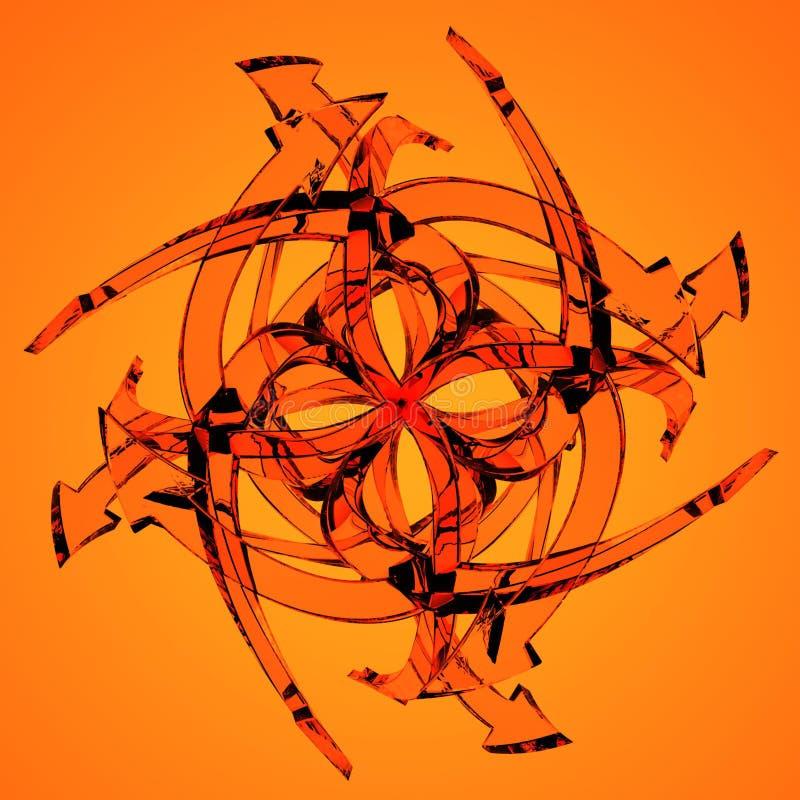 Frecce di vetro arancioni royalty illustrazione gratis
