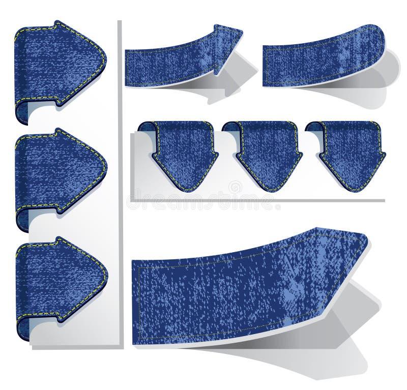 Frecce e contrassegni dei jeans. royalty illustrazione gratis