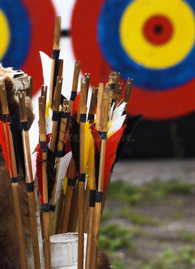Frecce ed obiettivo immagine stock libera da diritti