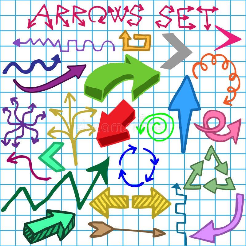 Frecce impostate illustrazione vettoriale