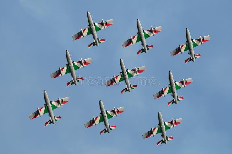 Frecce italiano Tricolori fotografie stock libere da diritti