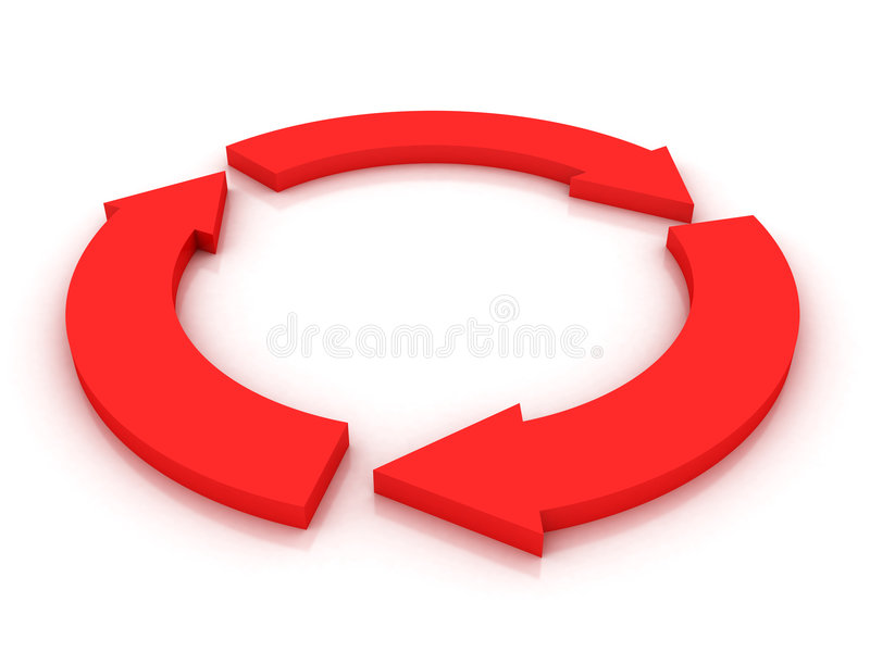Frecce nel cerchio completo illustrazione vettoriale